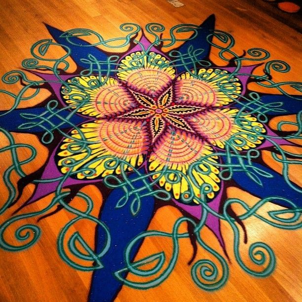 beautiful sand painting #mandala Loved and Pinned by www.downdogboutique.com to our Yoga community boards