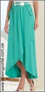 юбка с подолом разной длины