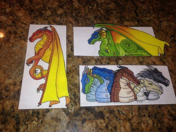 Wings Of Fire Dragon Bookmark Set Of 3 Wings Of Fire Dragons