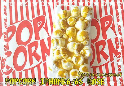 Popcorn Decoden Phone Case,Decoden iPhone 6/6s Kawaii Phone Cover,Popcorn Phone