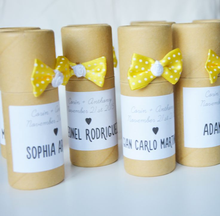 Wedding favors for children - crayon tubes designed and customized in our studio.