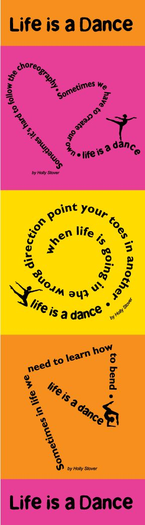 Life is a DANCE • www.theartdeli.com  #wall word decals, #dancers, #life is a dance, #quotes