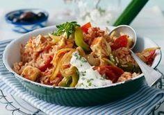 Tomaten-Reis-Pfanne mit Schafskäse Rezept