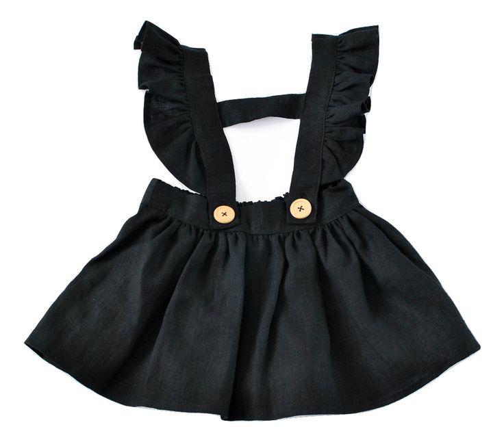 čierna dievčenská suknička