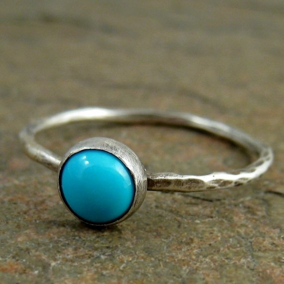 have one almost like it and i love it: Sleeping Beauty, Rings Sleep, Beautiful Turquoise, Hammered Sterling, Stacking Rings, Turquoise Rings, Sterling Silver Rings, Rings Hammered, Silver Turquoise