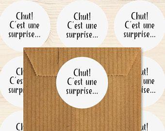 Étiquettes cadeaux autocollantes, Naissance, Mariage, Lot de 48 stickers