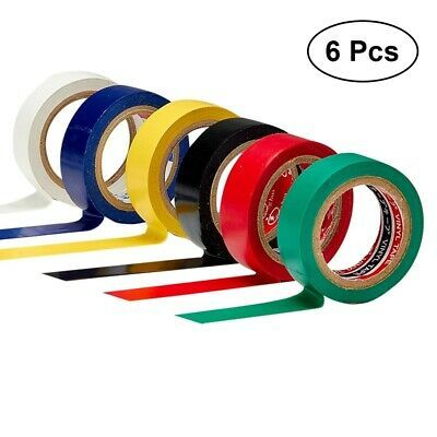 6 Pcs Pack 10m Flame Retardant Pcv Insulation Tape For Diy Industrial Home Use In 2020 Electrical Tape Insulation Flame Retardant