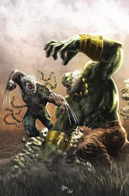 "imthenic: "" Old Man Logan VS Maestro by Mike Deodato Jr. """