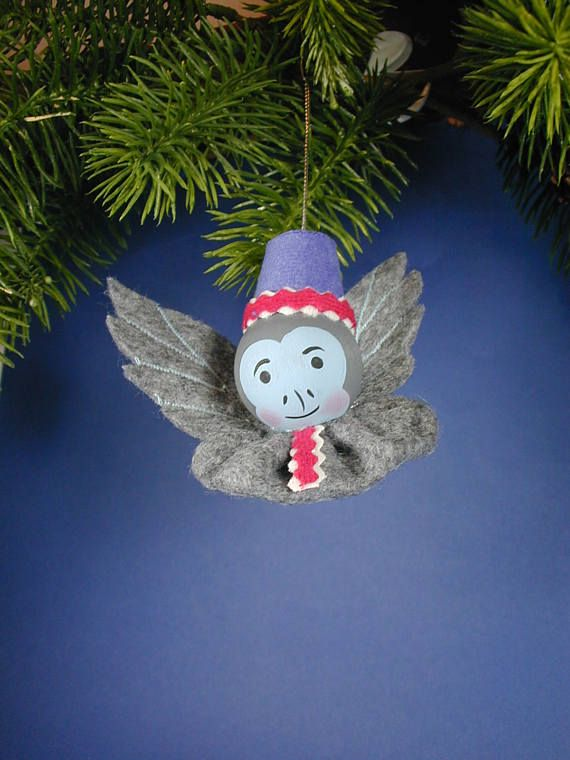 Oz Flying Monkey Ornament/ Handmade  Winged Monkey Ornament/