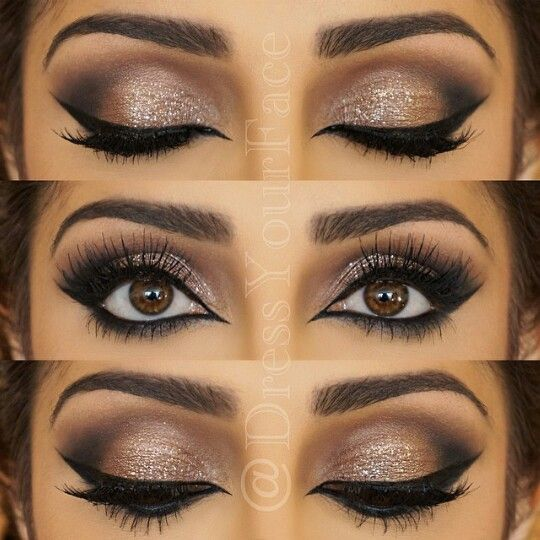 Perfect night out makeup for brown eyes