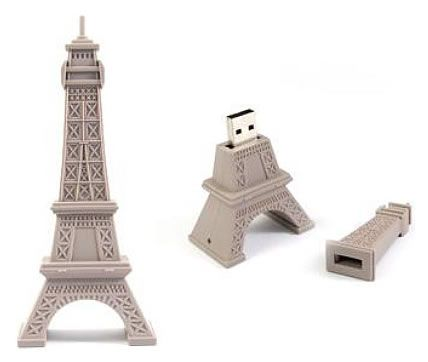 Not quite French tech but this Eiffel Tower Flash Drive (8 GB) is really cool
