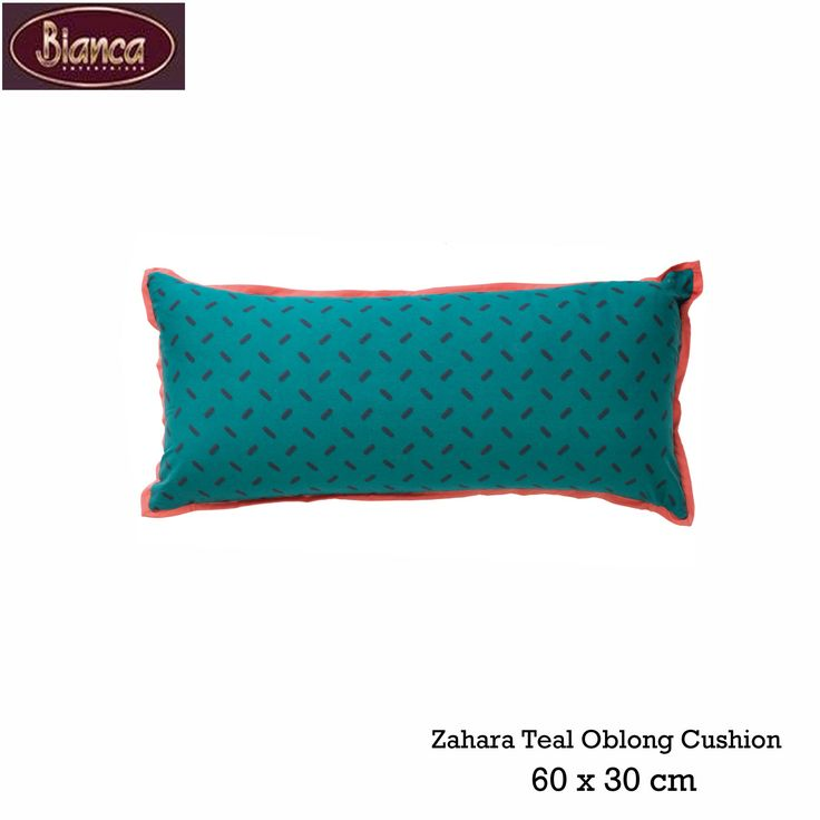 Zahara Teal Oblong Cushion by Bianca