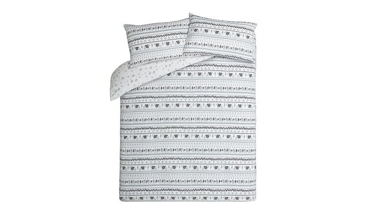 George Home Brushed Cotton Grey Polar Bear Reversible Duvet Set , read reviews and buy online at George at ASDA. Shop from our latest range in Home & Garden....