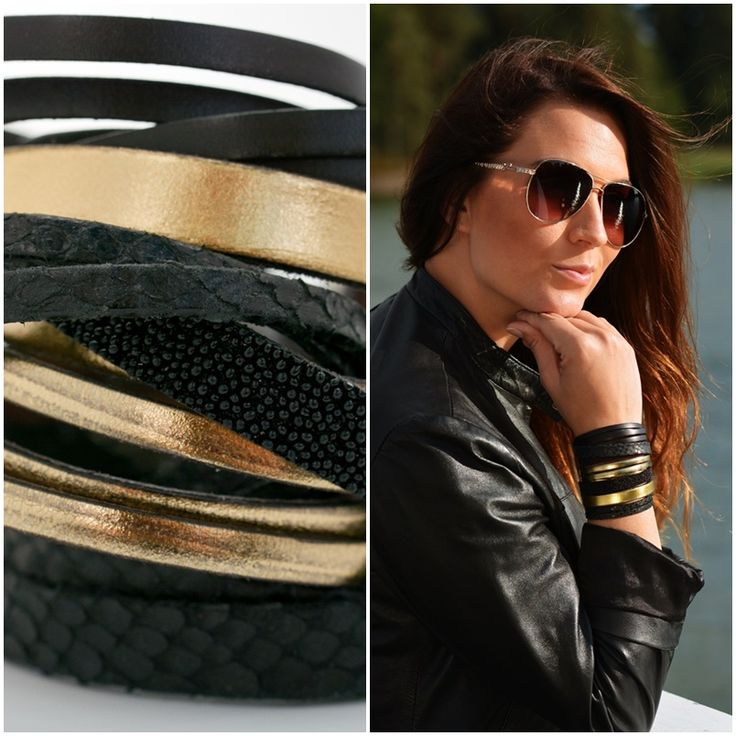 If you love to wear layers of jewelry, this Mix Me! - Jungle leather bracelet collection will be perfect for you!