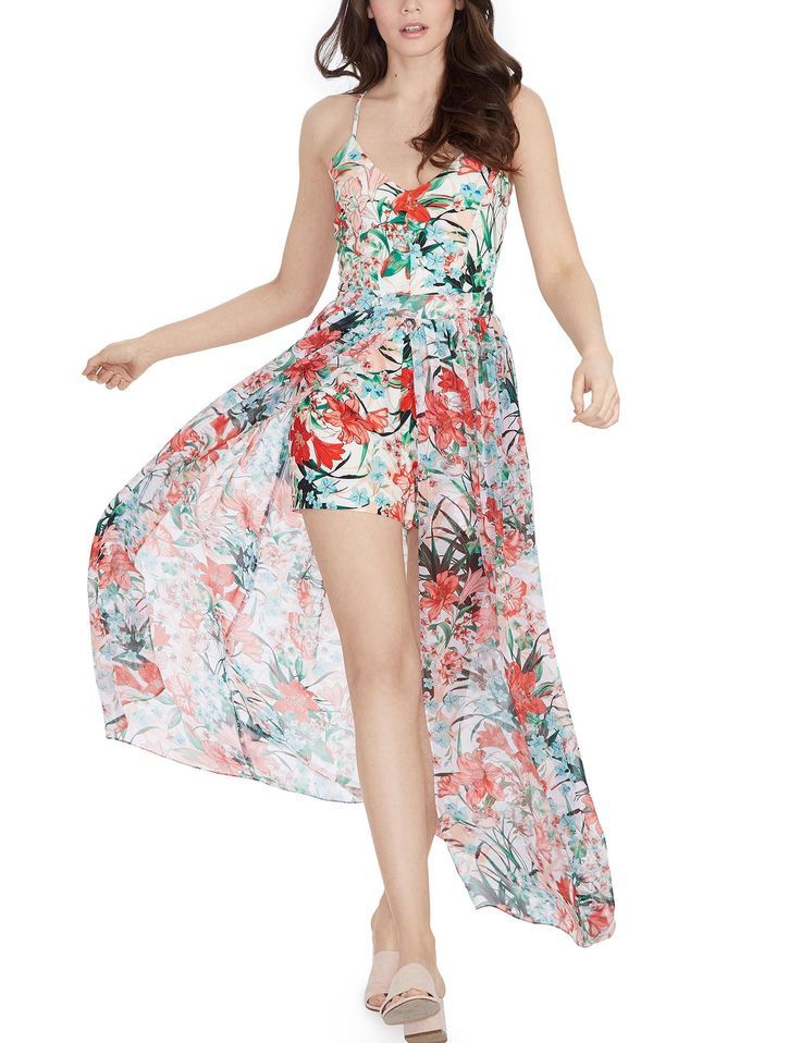 XOXO Floral Maxi Romper | Stage Stores