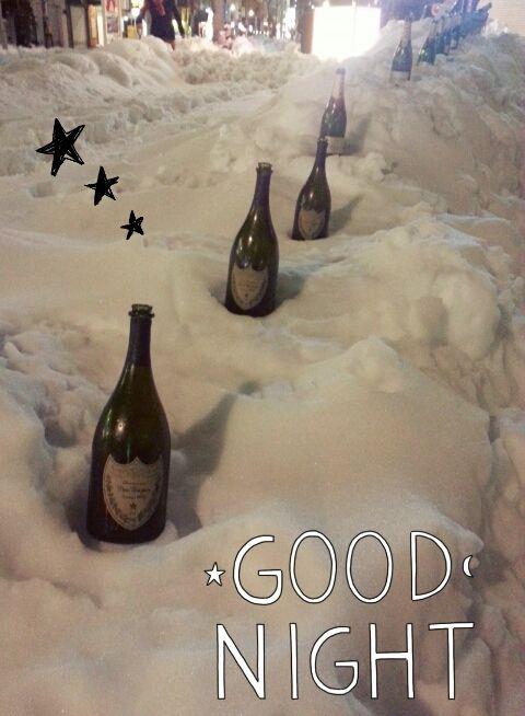 『雪とドンペリ』