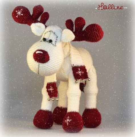PDF pattern Rudolph the Reindeer English Dutch and German
