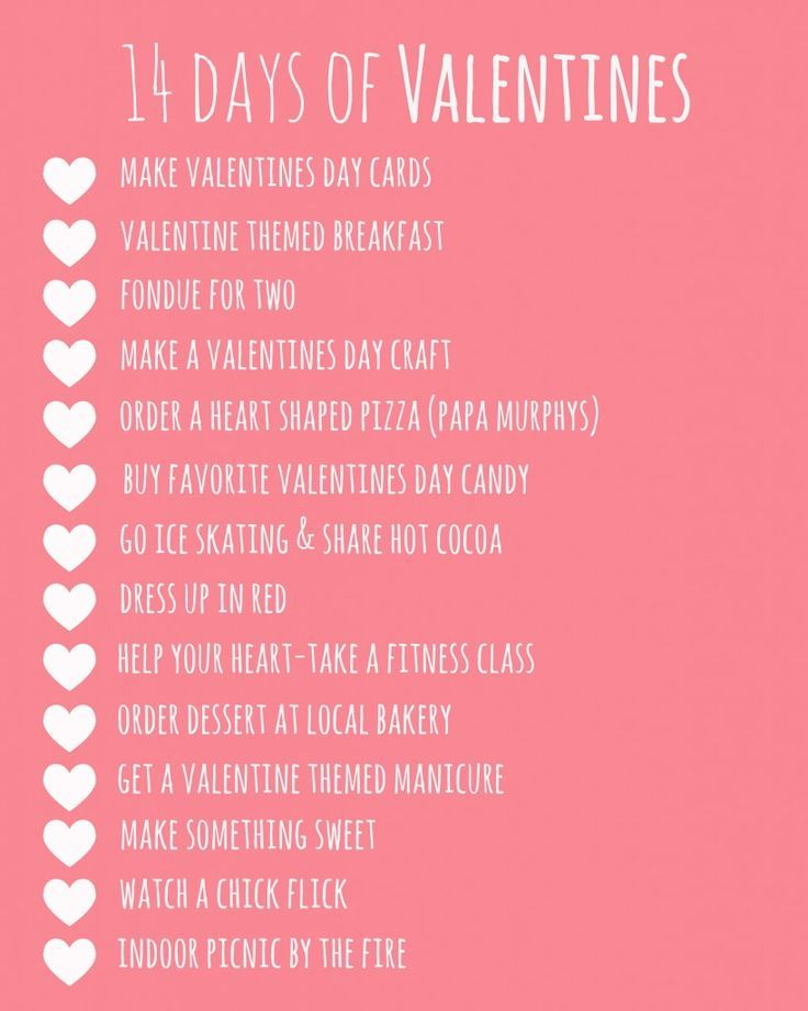 14 Days Of Valentines Printable Valentine S Day Ideas Pinterest