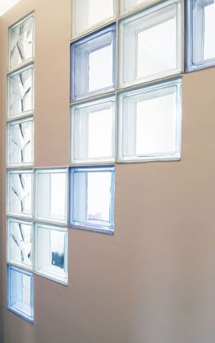glass blocks on partition wall - Google Search