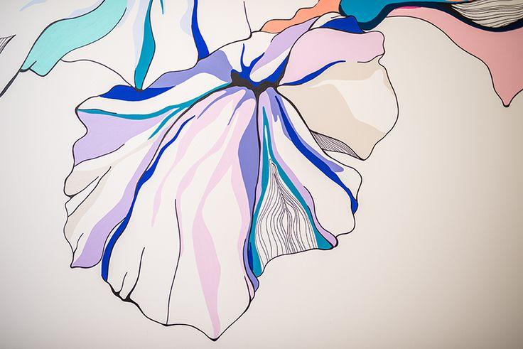 Handpainted Flower Wall Art