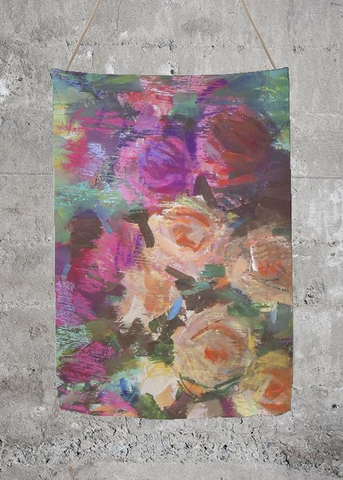 Oversized Merino Wool Scarf - flowers wool scarf by VIDA VIDA Cheap With Mastercard Best Store To Get Cheap Price Pay With Paypal Cheap Price Discount Manchester Cheap Sale Deals PBRxNK0qW