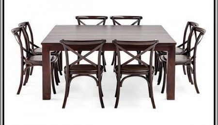Black Square Dining Table For 8