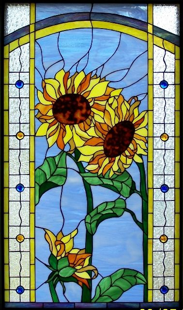17 Best Images About Stained Glass Sunflowers On