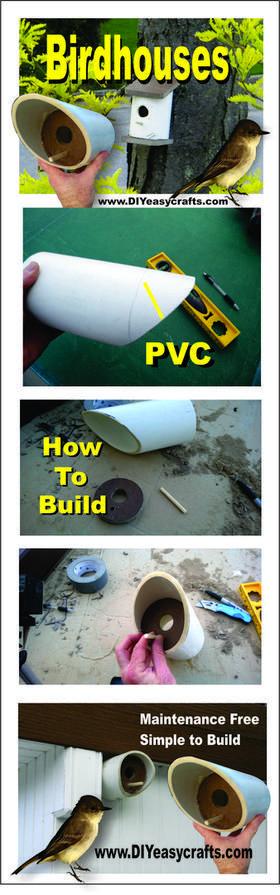How to build a easy DIY PVC birdhouse. www.DIYeasycrafts.com