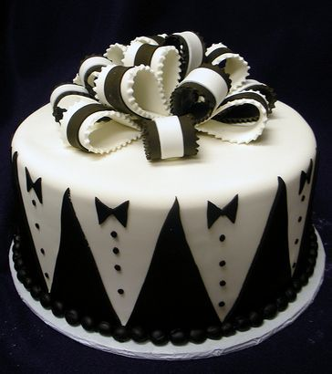 Grooms cake? black and white wedding cake