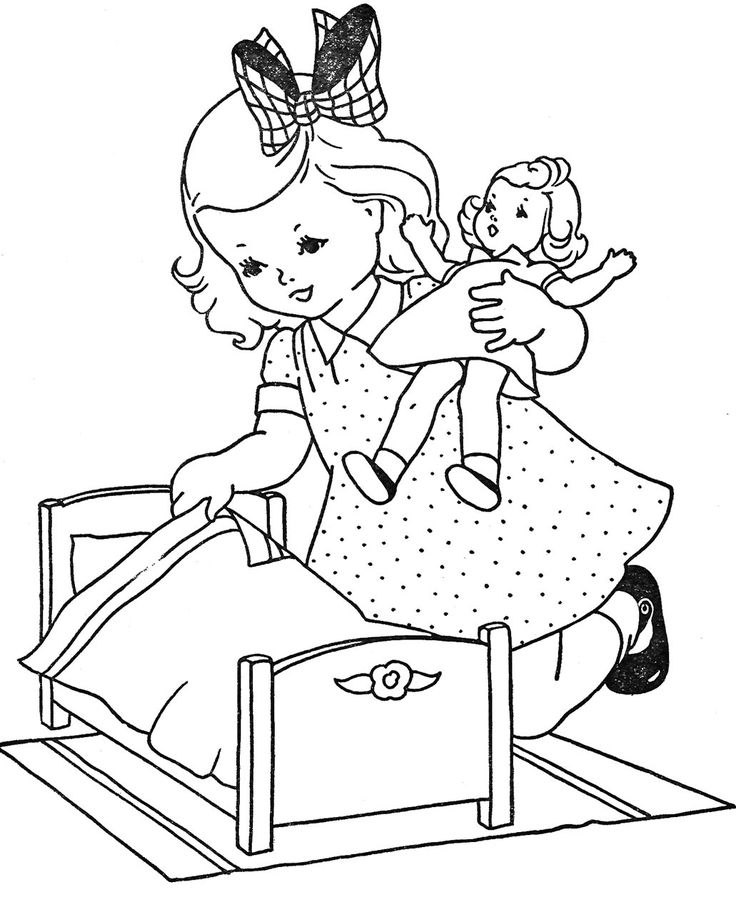 cute little girl coloring pages - photo#8