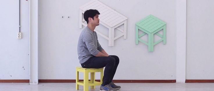 Des meubles à replier pour accrocher au mur