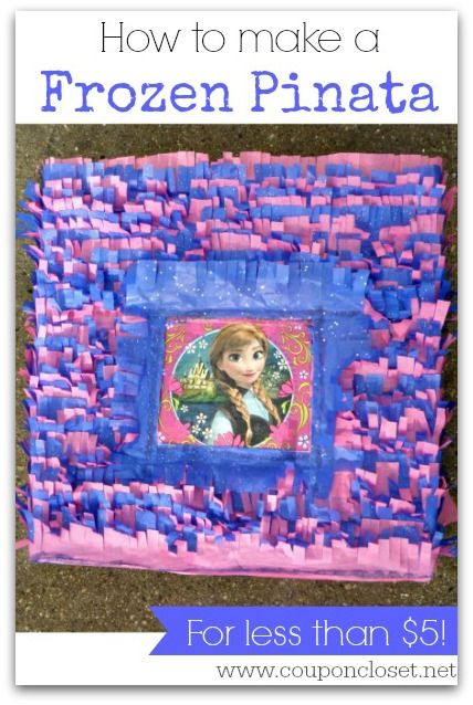 This is so easy ANYONE can do ti! Learn How to make a Frozen Pinata for just a few bucks