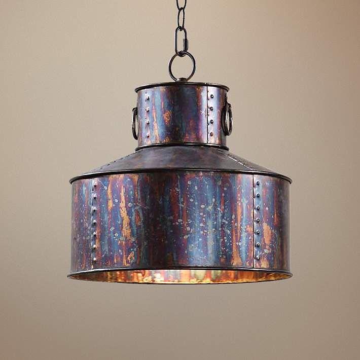 """Uttermost Albiano Giaveno 14"""" Wide Oxidized Bronze Pendant - #T2872   Lamps Plus"""