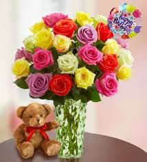 happy birthday flowers rose - Google Search