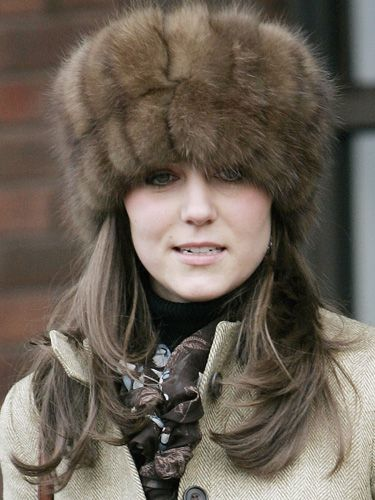 Princess Kate -- OMG, it's happening - she's shopping with Princess Beatrice and the dreaded Royal Hat Disease is overtaking Princess Kate! I do hope this furred atrocity is fake fur and not some dead animal that one of the Royals killed on the hunting field!