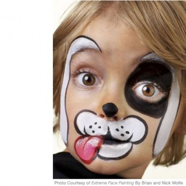 Tori Guthrie-remember when you used to always want me to do this? I miss those days! Puppy Face Paint Design - Click through for step-by-step instructions!