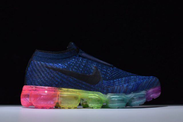 factory authentic ad282 f956d CDG x Nike Air VaporMax Flyknit Be True Deep Royal Blue Pink ...