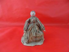 "Charming Antique 19th c Wooden Dolls House Grodnertal/Peg Doll 4.5"" Tall"