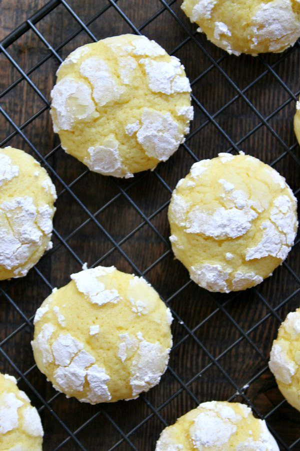 Lemon Crinkle Cookies recipe - from RecipeGirl.com