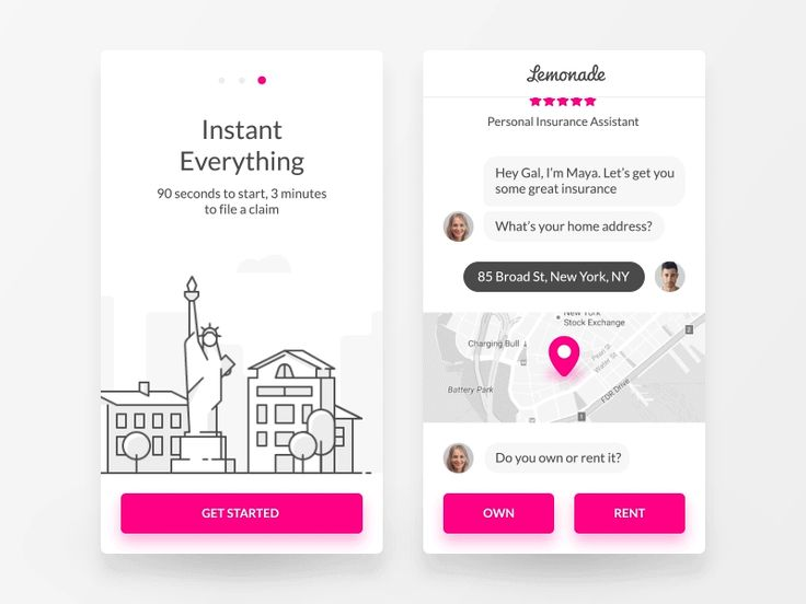 Amazing Chat Interface Inspiration: We're Launching Lemonade! by Gal Shir