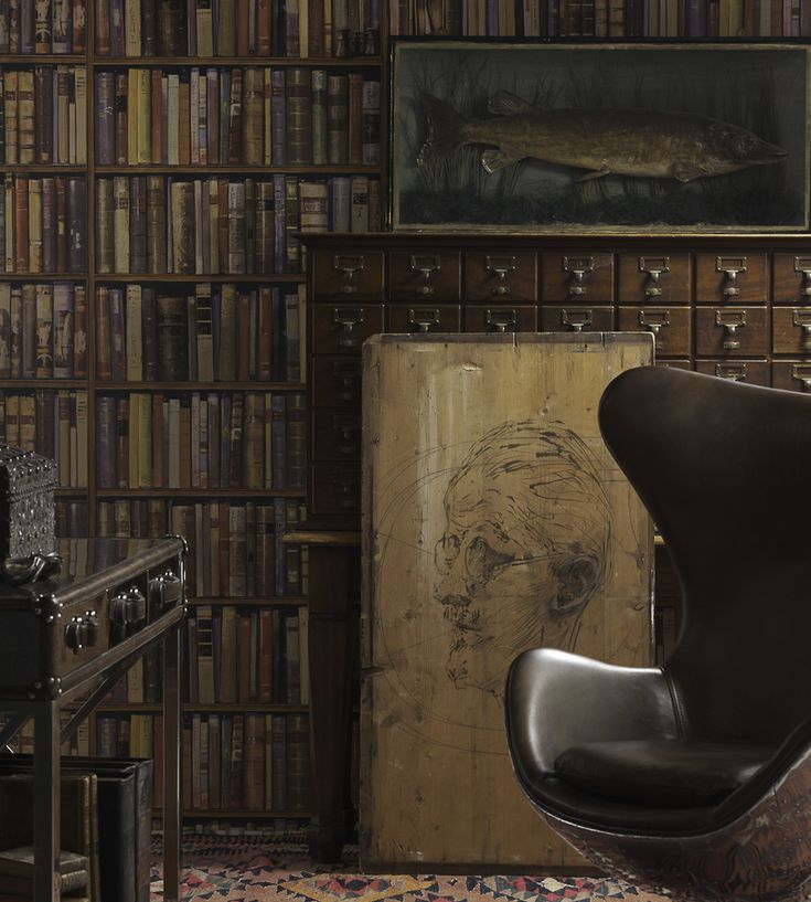 Library Wallpaper by Andrew Martin | Jane Clayton