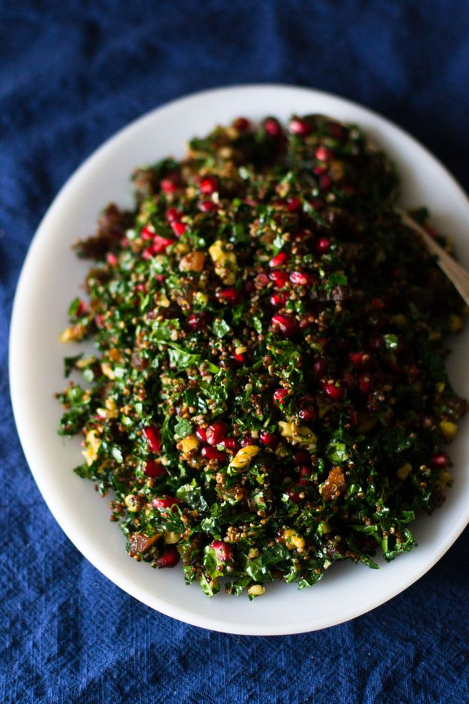 Kale Tabbouleh with Pomegranate and Quinoa