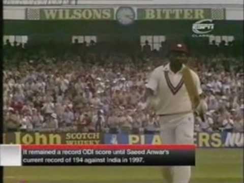Greatest ODI Innings Ever By Viv Richards(189) Part 1 - YouTube