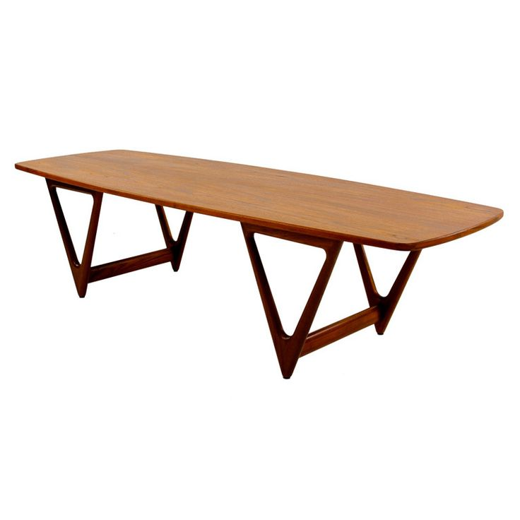 high style danish modern teak coffee table for sale on danish modern