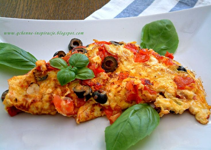 Qchenne-Inspiracje! Odchudzanie, dietoterapia, leczenie dietą: Omlet w stylu śródziemnomorskim, czyli jak smacznie zacząć dzień