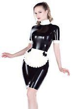 """""""nuevo"""" R1805 Goma Couture Látex delantal de sirvienta uniforme Vestido/todos los tamaños de segundos"""