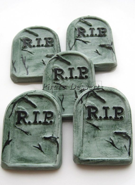 edible halloween cupcake toppers tombstones by piratedessert 1600