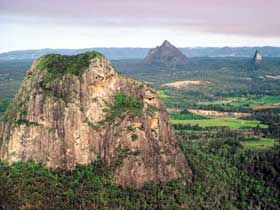 Glass House Mountains, QLD, AU.. I loved visiting these!