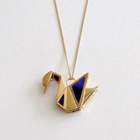 "Origami Inspired Jewelry. Love the  ""window pane"" detail."