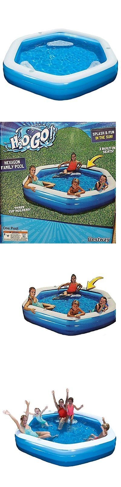 Inflatable and Kid Pools 116407: 8.5 Ft Hexagon Inflatable Swimming Pool Kids Above Ground Swimming Pool Summer -> BUY IT NOW ONLY: $91.44 on eBay!